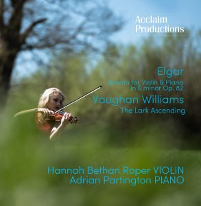 Hannah Bethan Roper's CD, featuring works by Elgar and Vaughan-Williams